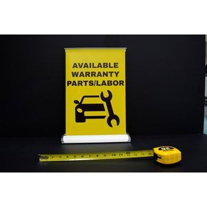 Mini Tabletop Retractable Banner Stand